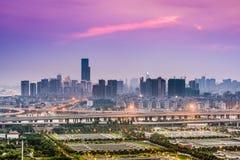 Cityscape van Fuzhouchina Royalty-vrije Stock Afbeeldingen