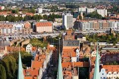 Cityscape van Gdansk Stock Fotografie