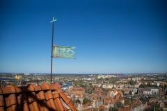Cityscape van Gdansk, Polen royalty-vrije stock afbeeldingen