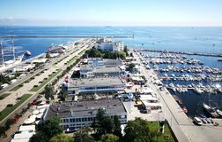Cityscape van Gdynia Royalty-vrije Stock Fotografie