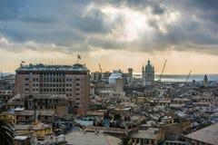 Cityscape van Genua, Italië stock foto's