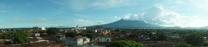Cityscape van Granada Stock Fotografie