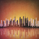 Cityscape van Grunge Royalty-vrije Stock Foto