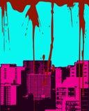 Cityscape van Grunge royalty-vrije illustratie