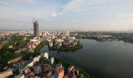 Cityscape van Hanoi Stock Foto's