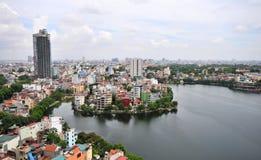 Cityscape van Hanoi Vietnam royalty-vrije stock foto's