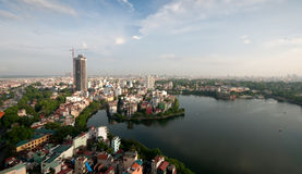 Cityscape van Hanoi in Vietnam Stock Afbeeldingen