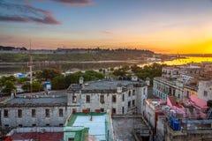 Cityscape van Havana bij Zonsopgang royalty-vrije stock afbeeldingen