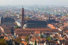 Cityscape van Heidelberg, Duitsland royalty-vrije stock afbeeldingen