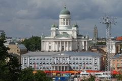 Cityscape van Helsinki Stock Afbeeldingen