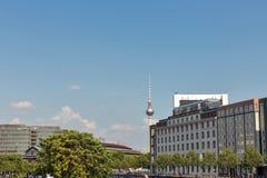 Cityscape van het Mitte-district in Berlijn, Duitsland royalty-vrije stock foto's