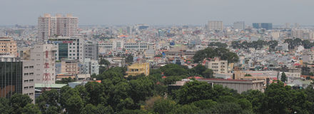 Cityscape van Ho Chi Minh-stad Royalty-vrije Stock Foto's