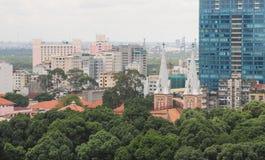 Cityscape van Ho Chi Minh-stad Royalty-vrije Stock Afbeeldingen
