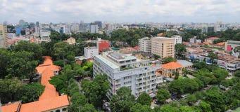 Cityscape van Ho Chi Minh-stad Stock Afbeelding