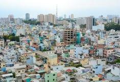 Cityscape van Ho Chi Minh-stad Stock Foto's