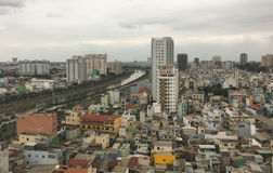 Cityscape van Ho Chi Minh-stad Royalty-vrije Stock Foto