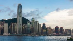 Cityscape van Hongkong stock videobeelden