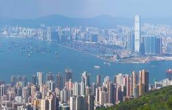 Cityscape van Hongkong Stock Fotografie