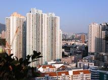 Cityscape van Huizen in Hong Kong stock afbeeldingen