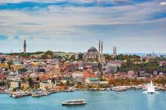 Cityscape van Istanboel royalty-vrije stock afbeelding
