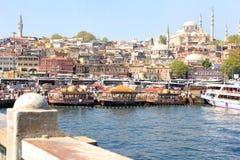 Cityscape van Istanboel, Turkije Stock Foto