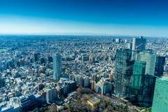 Cityscape van Japan de mening van het vogeloog bij middag stock afbeelding
