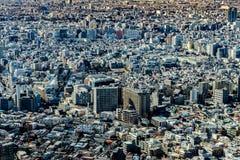 Cityscape van Japan de mening van het vogeloog bij middag royalty-vrije stock afbeeldingen