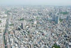 Cityscape van Japan Tokyo de bouw, weg luchtmening Royalty-vrije Stock Afbeelding