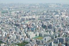 Cityscape van Japan Tokyo de bouw, weg luchtmening Royalty-vrije Stock Foto