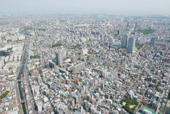 Cityscape van Japan Tokyo de bouw, weg luchtmening Royalty-vrije Stock Foto's