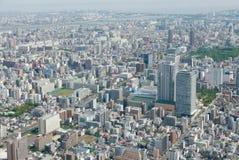 Cityscape van Japan Tokyo de bouw, weg luchtmening Royalty-vrije Stock Fotografie