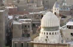 Cityscape van Kaïro - de Oude Vernieuwing van de Moskee Stock Afbeelding