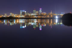 Cityscape van Kansas City, Missouri Royalty-vrije Stock Fotografie