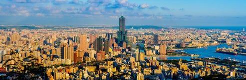 Cityscape van Kaohsiung-stad, Taiwan Stock Afbeelding