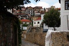 Cityscape van Kastoria, Griekenland Stock Foto