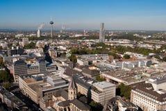 Cityscape van Keulen van de kathedraal van Keulen Stock Foto's