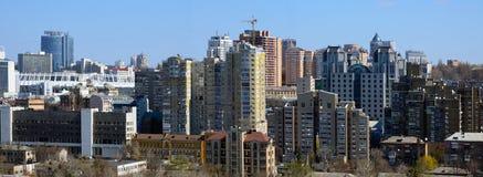 Cityscape van Kiev in de lente Royalty-vrije Stock Afbeeldingen