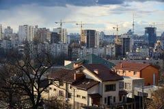 Cityscape van Kiev in de lente Royalty-vrije Stock Foto's
