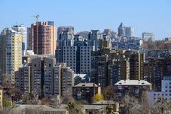 Cityscape van Kiev in de lente Stock Foto