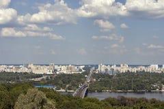 Cityscape van Kiev, de Oekraïne stock foto's