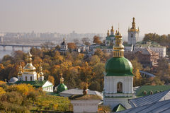 Cityscape van Kiev van de herfst royalty-vrije stock afbeeldingen