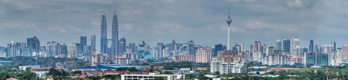 Cityscape van Kuala Lumpur Royalty-vrije Stock Foto's