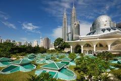 Cityscape van Kuala Lumpur stock foto's