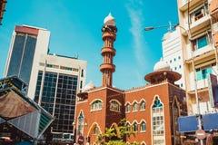 Cityscape van Kuala Lumpur Godsdienstige en moderne architectuur Reis naar Maleisië Moskee Masjid India Stadsreis Straatmarkt rei Stock Foto