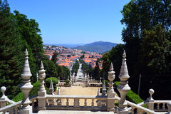 Cityscape van Lamego, Portugal Stock Afbeelding