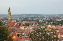 Cityscape van Landshut Stock Afbeeldingen