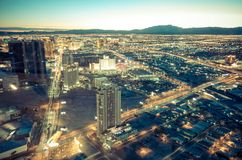 Cityscape van Las Vegas Stock Fotografie