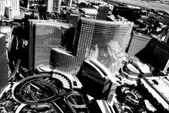 Cityscape van Las Vegas Stock Foto's