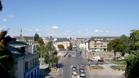 Cityscape van Le Mans, Frankrijk stock videobeelden