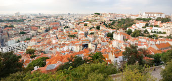 Cityscape van Lissabon Royalty-vrije Stock Afbeeldingen